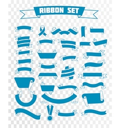 ribbon set linear style vector image vector image