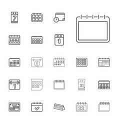 22 month icons vector