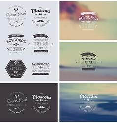 6 Hand Drawn Style Logos vector image