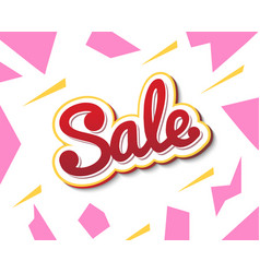 a colour banner for advertising sales bright vector image