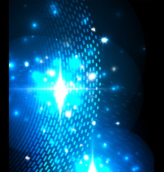 abstract blue neon star background for celebration vector image