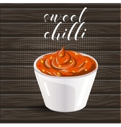 Abstract logo ceramic dip bowl filled vector