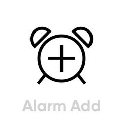 Add new alarm icon vector