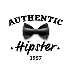 authentic hipster label brand design vector image