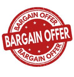 bargain offer grunge rubber stamp vector image