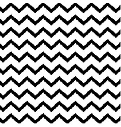 black chevron pattern seamless background vector image
