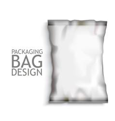 Blank Foil Food Snack vector image