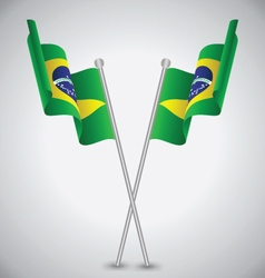 Brazil Waving Flag vector