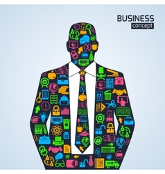 Business concept icons person vector image