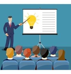 Businessman making presentation vector image