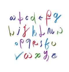 Calligraphic script alphabet letters set font vector