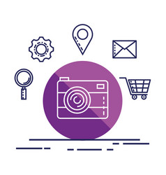 camera photo online web app digital icon vector image