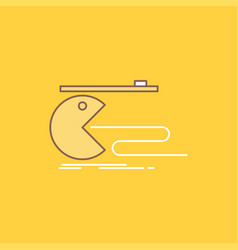 Character computer game gaming pacman flat line vector