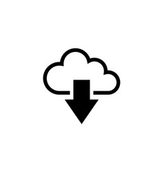 cloud download flat icon vector image