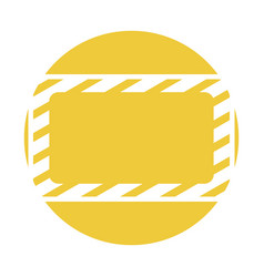 Construction banner board icon vector