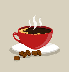Cup fresh coffee vector