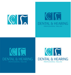 Dental and hearing audiology logo and icon vector