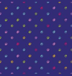 Doodle polka dot pattern vector