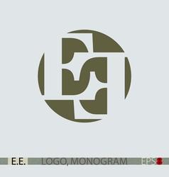 E E monogram logo vector image