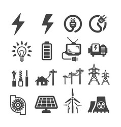 Electric icon vector