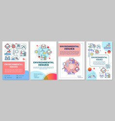 Environmental issues brochure template eco vector