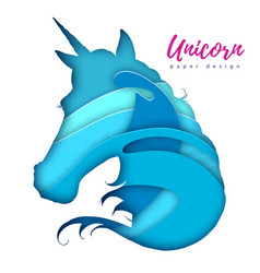 Fantasy animal horse unicorn silhouette cut out vector