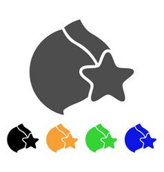 female breast censorship star icon vector image