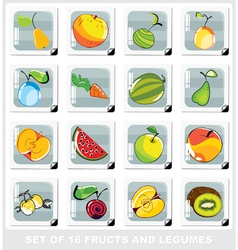 Fruits and legumes vector