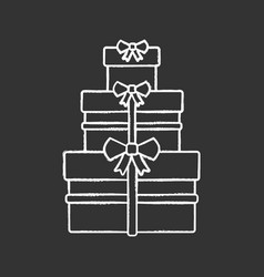 gifts boxes chalk icon vector image