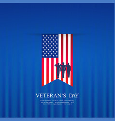 Hanging flag on day americas veterans vector
