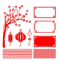Happy chinese new year 2015 decoration element for vector image vector image