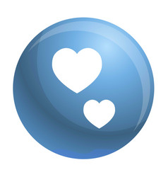 heart shape icon simple style vector image