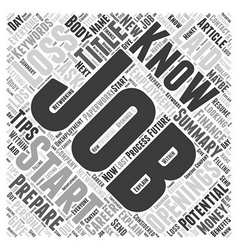 How to Prepare for a Potential Job Loss Word Cloud vector