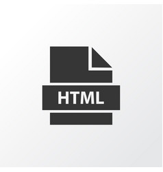 Html icon symbol premium quality isolated format vector