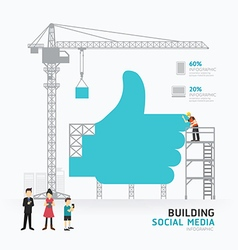 Infographic business hand like symbol shape templa vector image