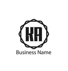 Initial letter ka logo template design vector