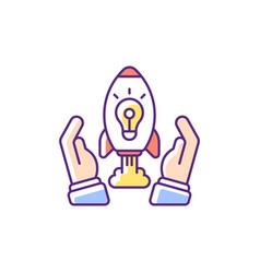 Innovation rgb color icon vector