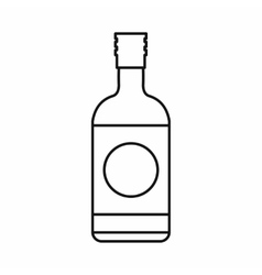 Japanese liquor sake bottle icon outline style vector