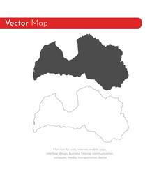 map latvia isolated black on vector image