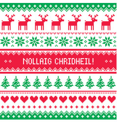 Merry christmas in scottish gaelic greetings card vector