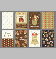 Merry christmas with elements for holidays vector