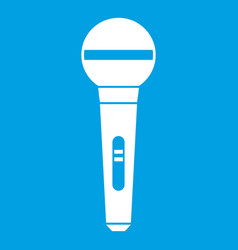 Microphone icon white vector