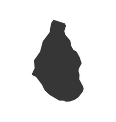 Montserrat map outline vector