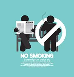 No Smoking Sign At Public Place vector