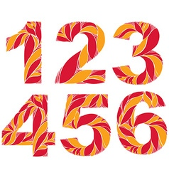 Numeration decorated with seasonal orange autumn vector