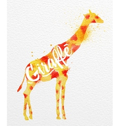 Painted animals giraffe vector