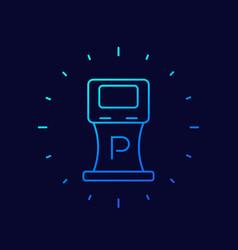 parking machine icon thin line vector image