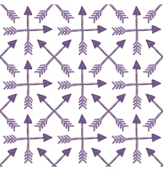 Pattern with crossed ethnic arrows vector image
