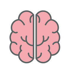 Pink creative brain and mental healthy vector