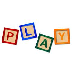 Play blocks vector
